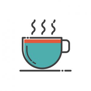Illustrated coffee mug